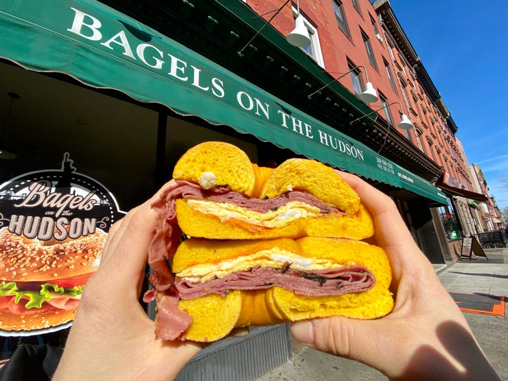 Bagels on the Hudson Pastrami, Egg, and Cheese